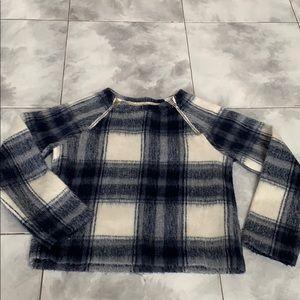 Plaid box sweater